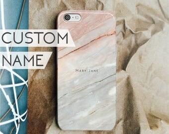iPhone 7 case CUSTOM NAME MARBLE iphone 7 plus case personalized iphone case iphone 6s case iphone 6s plus iphone 6 case iphone se case 130