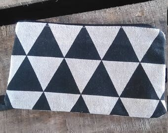 black and white pouch