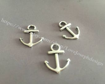 30Pieces /Lot 19mmx15mm Nautical Small Anchor Charms (#005)