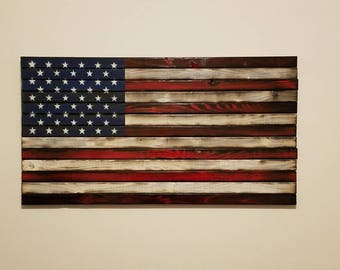 Rustic and Weatheted American Flag