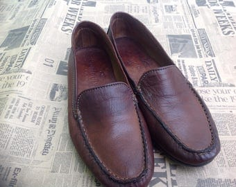 90s loafers. Vintage loafers Made in Italy. Leather Shoes. Leather loafers.