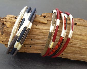 Leather Bracelet color selectable