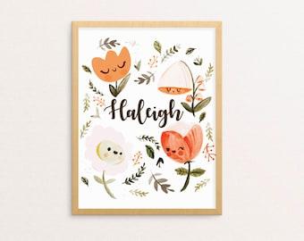 Dreamy Spring Nursery Print (8 x 10 in)   Personalize It!