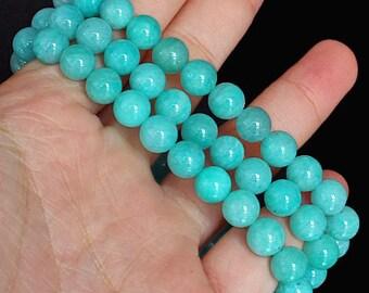 222CT Natural Amazonite Bead Bracelet BASb175