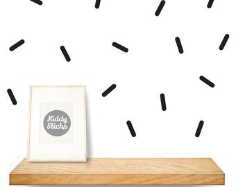60 x  Black Sprinkle Shaped Wall Decals / Stickers