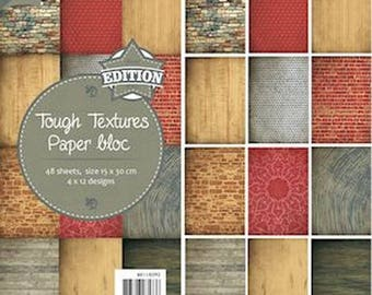 Block of 48 paper 15 x 30 cm JOY CRAFTS TOUGH TEXTURES