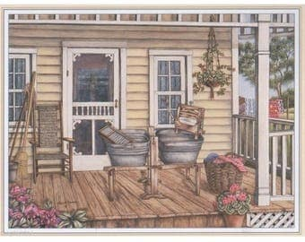 Lithograph for 3D painting 22 x 17 cm home patio