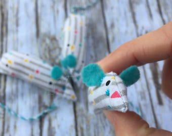 Colorful 90s Inspired Catnip Mice Toy for Cats and Kittens