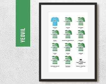Yeovil 2013 League 1 Play Off Winners Team Print, Football Poster, Football Gift, FREE UK Delivery