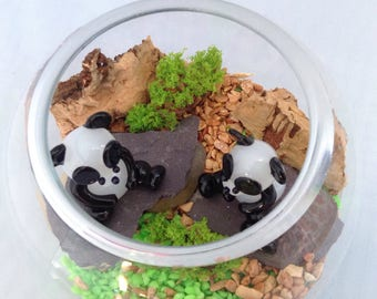 Glass Panda Bowl