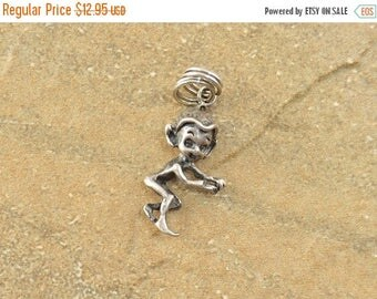 HUGE Sale 3D Stylized Elf Sprite Charm / Pendant Sterling Silver 1.5g