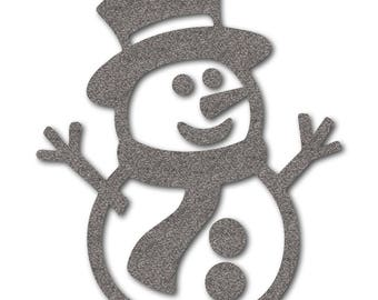 reflective iron-on snowman, iron-on reflective patch for kids clothing, for runners oder cyclists