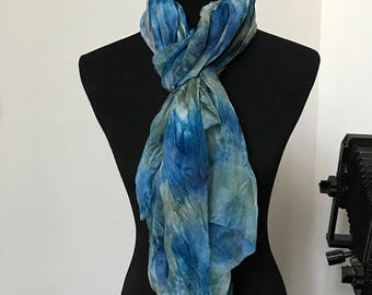 Prophetic - Silk Scarf - Gifts for Women - Dyed Silk - Christian Gifts - Crinkle Silk called Peacemaker
