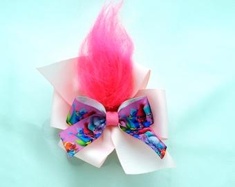 Pink Troll Hair Bow