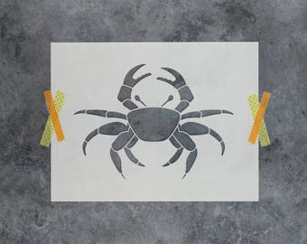 Crab Stencil - Reusable DIY Craft Stencils of a Crab