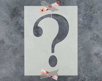 Question Mark Stencil - Reusable DIY Craft Stencils of a Question Mark
