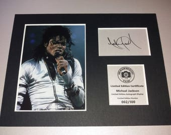 Michael Jackson - Signed Autograph Display - Fully Mounted and Ready To Be Framed V2