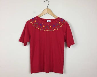 90s Red T Shirt Size Small