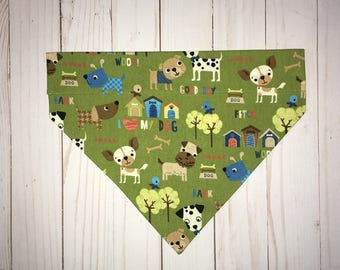 Dog Bandana, Dog Over the Collar Bandana, Pet Bandana, Puppy Bandana, Boy Dog Bandana