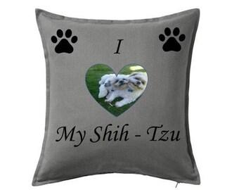 Pet dog shih tzu cushion personalised