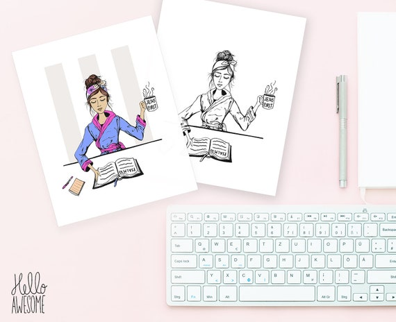 But First Modest Fashion Illustration 5x7 Print