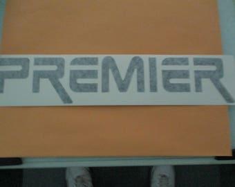 PREMIER DRUMS Vinyl Sticker in BLACK
