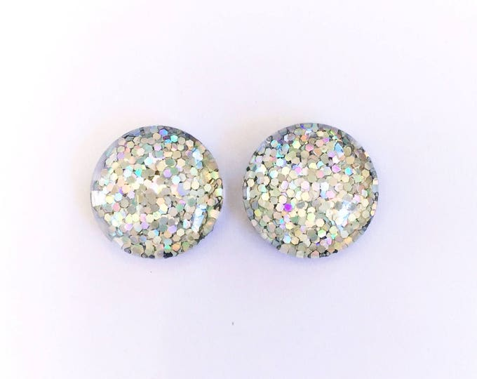 The 'Snow Queen' Glass Glitter Earring Studs