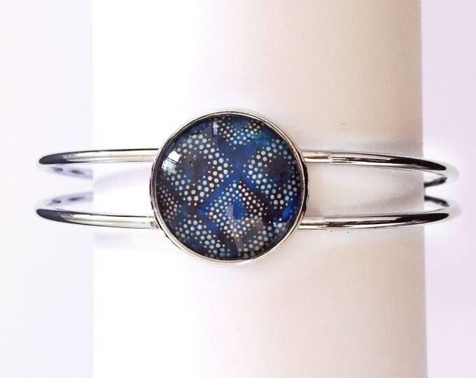 The 'Deandra' Glass Cuff Bracelet