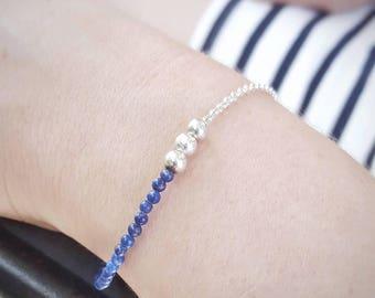 Lapis Lazuli Sterling Silver Bracelet