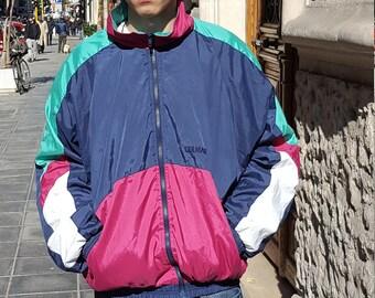 Vintage FLUO multicolor windbreaker Jacket cod. 2-95