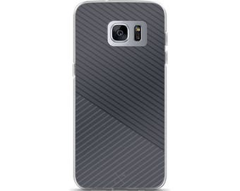 Dark Grey Skinny Stripes Samsung Galaxy S7, Galaxy S7 Edge, Galaxy S8, Galaxy S8+ Phone Case