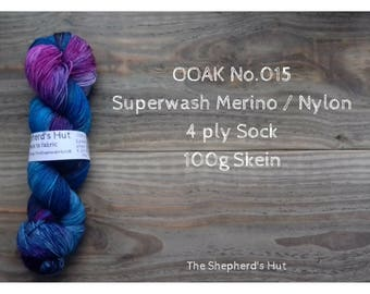 Superwash Merino/Nylon 75/25 Sock yarn 100 g OOAK No. 015
