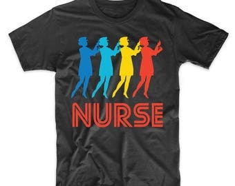 Nurse Retro Pop Art Nursing Graphic T-Shirt