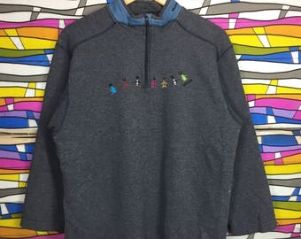 Rare!! Munsingwear Sweatshirt Spellout Embroidery