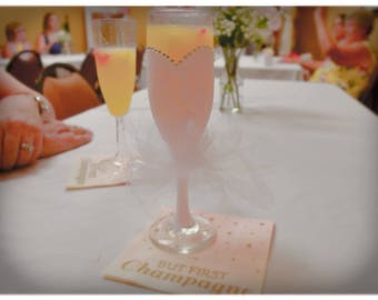 Bridal tutu Champagne glass