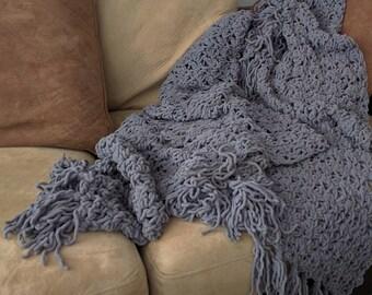 Chunky Throw Blanket - Crochet