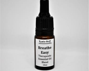 Breathe Easy, Therapeutic Essential Oil Blend, Sinus Blend, Plant Based Healing Therapy, Aromatherapy, Anti-Bacterial, Essential Oils