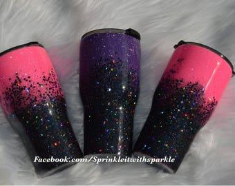 Pink Glitter Yeti/Pink Yeti/Glitter Ozark/Glitter Yeti/Glitter RTIC/Pink Ozark/Pink RTIC/Pink mug/Glitter Mug/Coffee Mug/Glitter coffee mug
