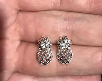 Sterling Silver (925) Pineapple Earrings