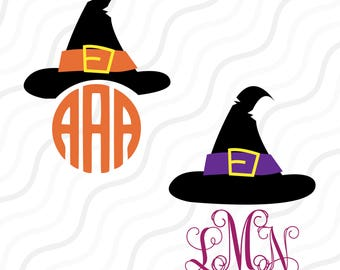 Halloween Witch Hat SVG, Witch Hat SVG, Halloween SVG Cut table Design,svg,dxf,png Use With Silhouette Studio & Cricut_Instant Download
