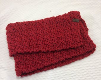 Burgundy, made crocheted Snood