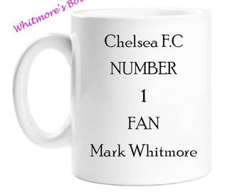 Personalised Football Supporters Mug - Football Team  Mug - Number One Fan - Gift For Football Supporter - Gift For Men - Gift For Women