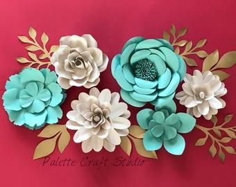 Paper flowers/ paper flower backdrop/home decor/ nursery decoration/ wedding flowers/ bridal shower/ baby shower/ paper flower wall decor