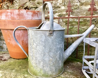 Vintage Watering Can, beautifully weathered and completely sound. Perfect addition to your potting shed.