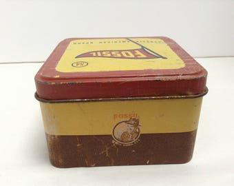 Antique Ice Tea Fossil Tin