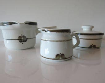 Rorstrand Nordica milk and sugar set. Carl Harry Stalhane. 70 's. Vintage. Mid Century.