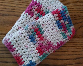 Crochet washcloth SET crochet dishcloths country cotton farm