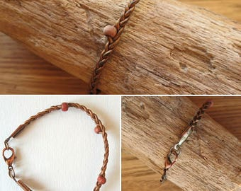 16401 leather braided bracelet