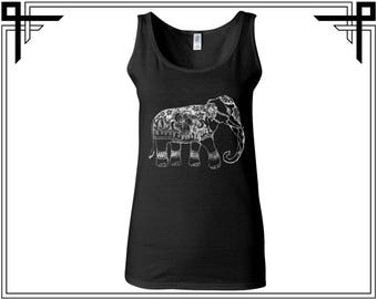 Abstract Elephant Tank Elephant Tank Top Elephant Tank Animal Love Tank Animal Tank Top Women Tank Ladies Tank Softstyle Tank Gift For Her