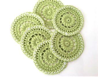 Coaster handmade crochet Drink coaster Home decor Housewarming gift